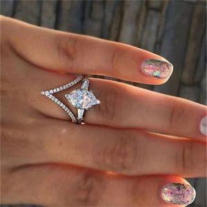 Bridal Wedding Engagement White Sapphire Ring